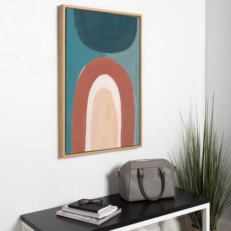 Large wood framed canvas photo