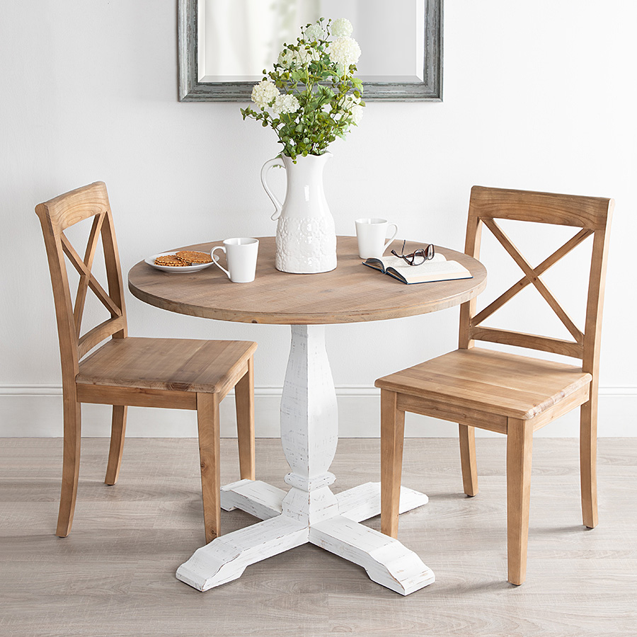 Light wood table with chairs