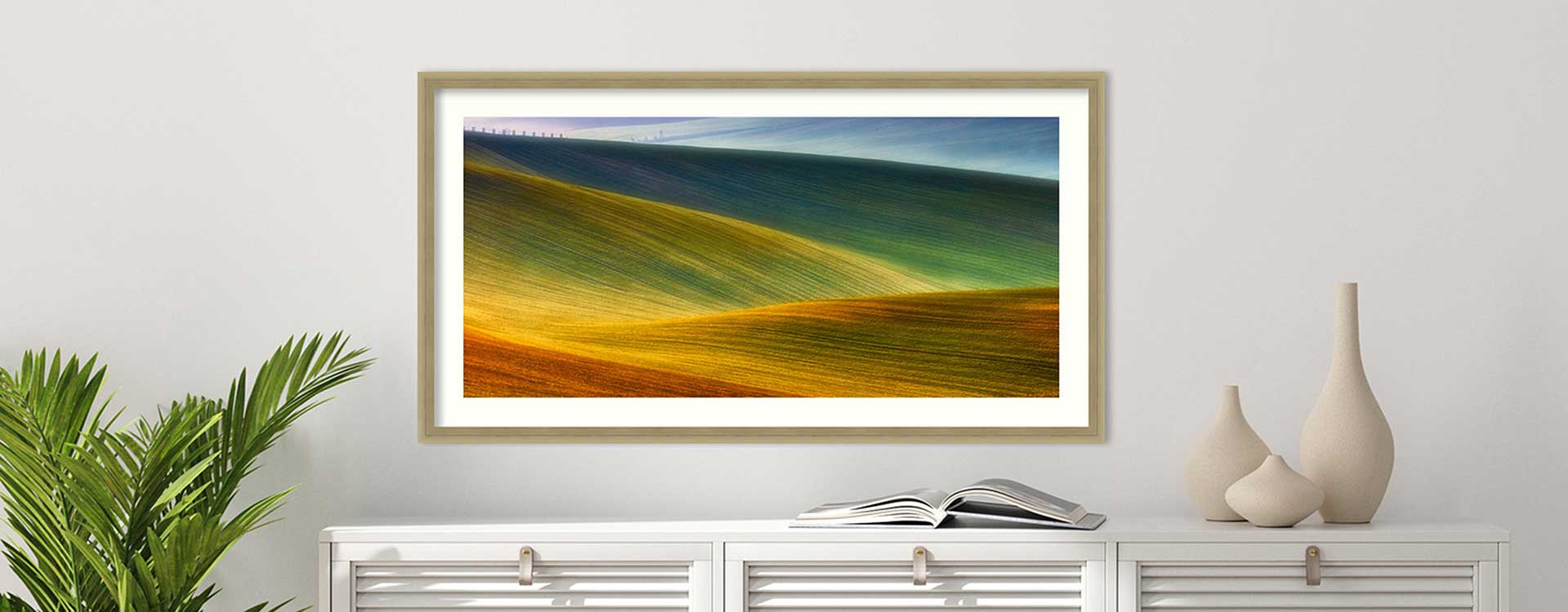 Abstract picture of sand dunes