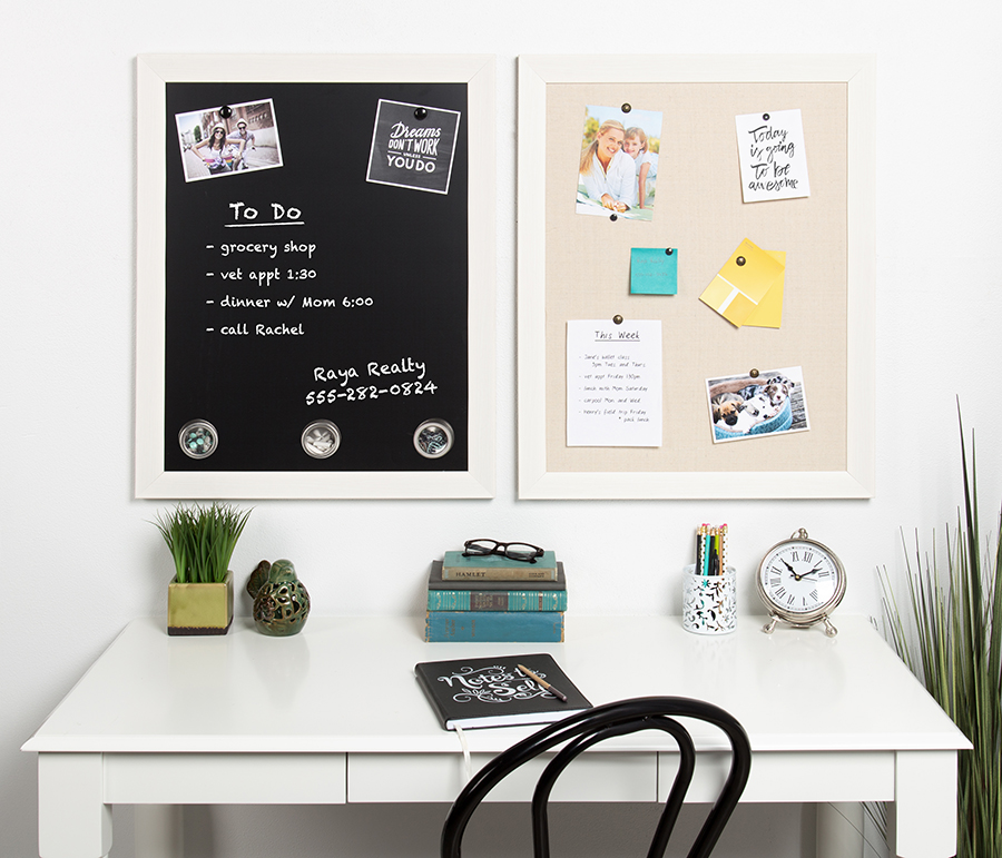 Organizer boards over table